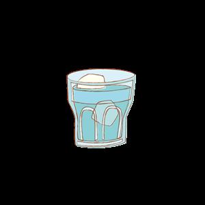 喫茶店の水 イラスト