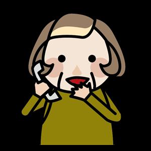 電話をするおばあちゃん