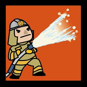 消防士イラスト