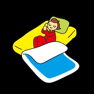 寝相が悪い イラスト