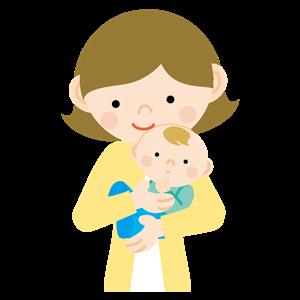 幼児を抱っこする赤ちゃん