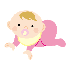 ハイハイする赤ちゃんイラスト
