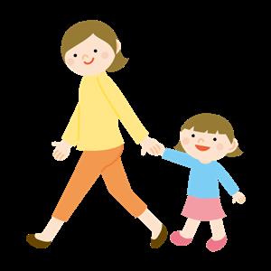 母親と小学生