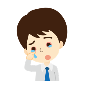 思い悩み泣く男性