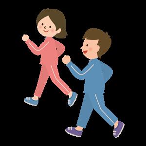 運動する夫婦 イラスト
