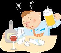 飲み過ぎの男性
