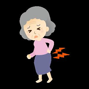 腰痛に悩む女性女性