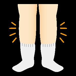 足のむくみ イラスト