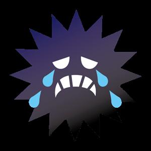 泣いている活性酸素イラスト
