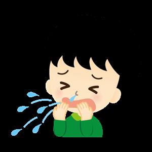 急性鼻炎 男の子イラスト