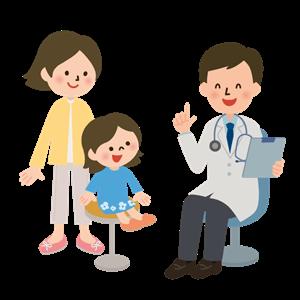 親子と問診風景