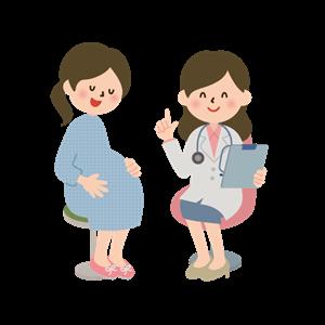 病院で不妊治療の相談をする妊婦