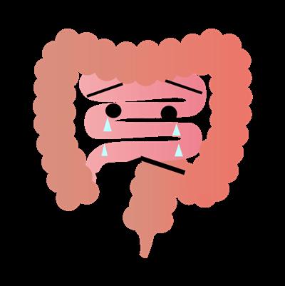 泣く腸 イラスト