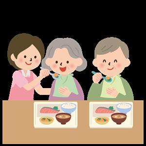 老人ホーム 食事風景