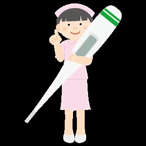 体温計を持った看護師