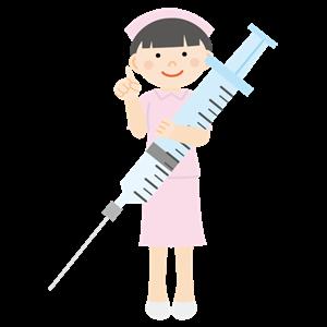 注射器を持った看護師 イラスト