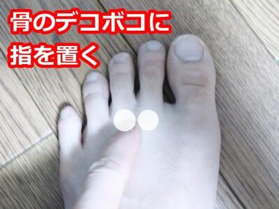 足の中指と人差し指の骨の付け根