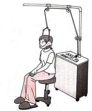 首の牽引イラスト