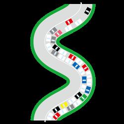 車の渋滞イラスト