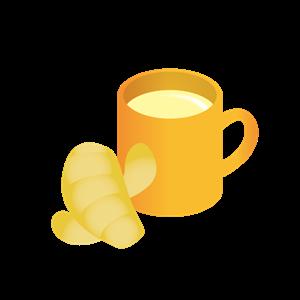 ショウガと生姜湯