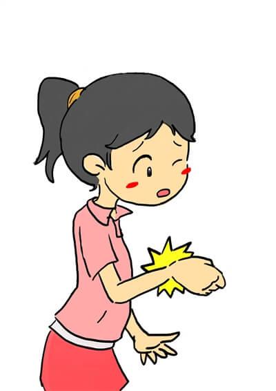 手の腱鞘炎の女性イラスト