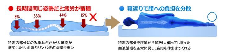 睡眠時の体圧分散