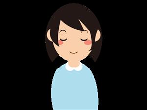 瞑想する女性イラスト