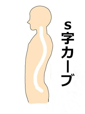 S字カーブイラスト