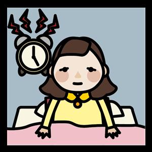 不眠症の女性 イラスト