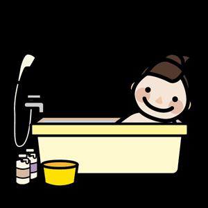 お風呂に浸かる主婦