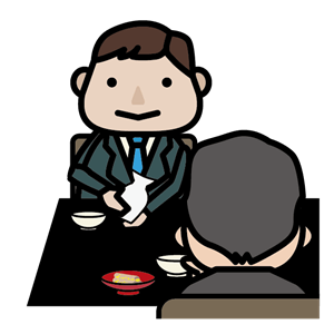 日本酒でお酌をする男性