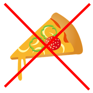 ピザを警告