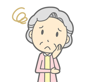 困った老人女性