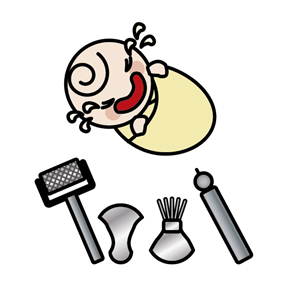 小児鍼する赤ちゃんイラスト