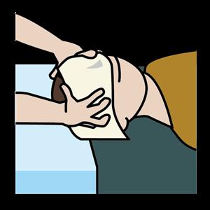 頭部のマッサージ