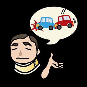 交通事故の経過を話す男性