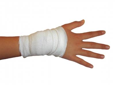 手首の包帯