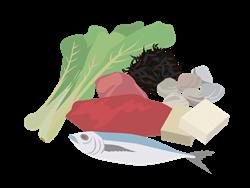 鉄分の多い食品イラスト