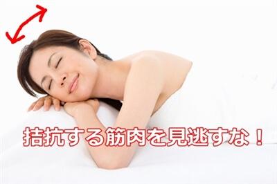 頚の前屈と後屈 イメージ