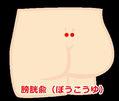 おねしょのツボ膀胱兪