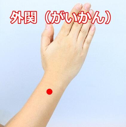 腱鞘炎のツボ外関