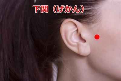 顎関節症のツボ下関