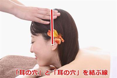 耳の穴を結ぶ線