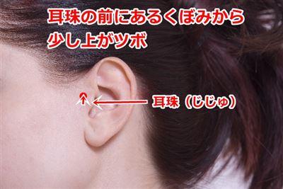 耳門の位置