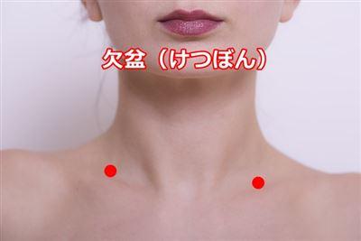斜角筋症候群のツボ欠盆