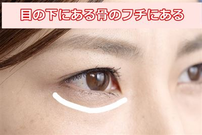 眼窩のフチ