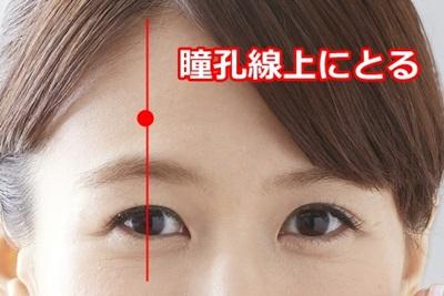 瞳孔線上にとる