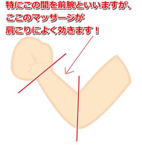 前腕の位置
