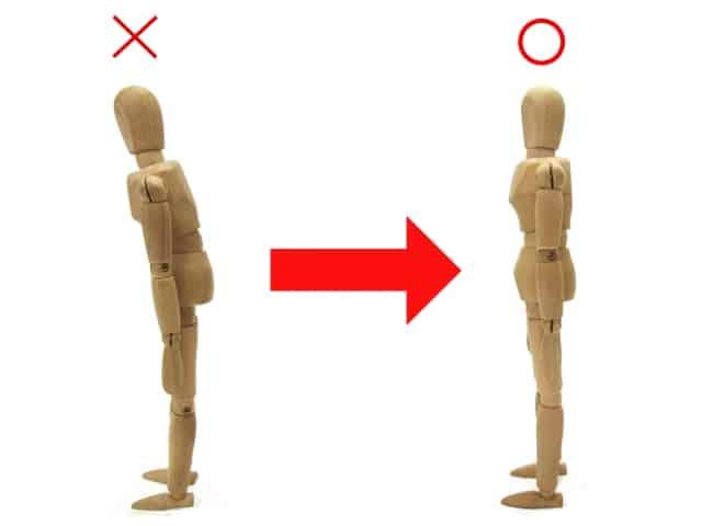 姿勢を正す イメージ